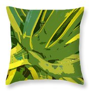 Cactus Work Number 2 Throw Pillow