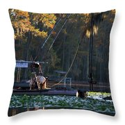 Caddo Pile Driving - Rig 2 Throw Pillow