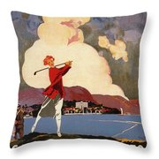 Cadenabbia Tremezzo, Golf And Tennis - Golf Club - Retro Travel Poster - Vintage Poster Throw Pillow