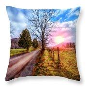 Cades Country Lane Throw Pillow