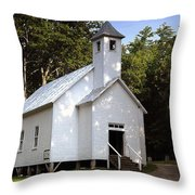 Cades Cove Baptist Church Throw Pillow