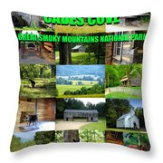 Cades Cove Collage Throw Pillow