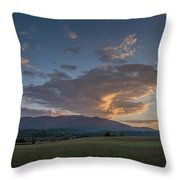Cades Cove - Great Smoky Mountains National Park Throw Pillow