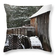 Cades Cove Mill II Throw Pillow