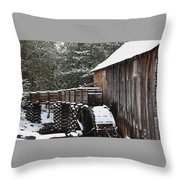 Cades Cove Mill II Throw Pillow