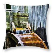 Cades Cove Mill No 3 Throw Pillow