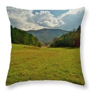 Cades Cove Pasture Throw Pillow