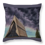 Cadet Chapel At The United States Air Force Academy Throw Pillow