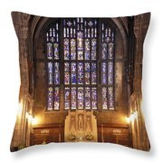 Cadet Chapel With Stained Glass Windows Throw Pillow
