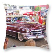 Cadillac Coupe Deville Throw Pillow