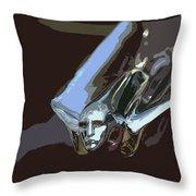 1949 Cadillac Hood Ornament Throw Pillow