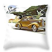 Cadillac Lasalle Throw Pillow