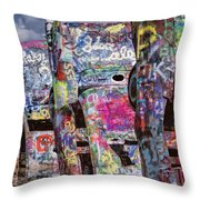 Cadillac Ranch Afternoon II Throw Pillow
