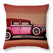 Cadillac V16 Mixed Media Throw Pillow