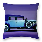 Cadillac V16 1930 Painting Throw Pillow