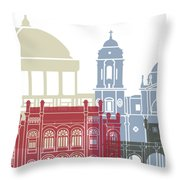 Cadiz Skyline Poster Throw Pillow