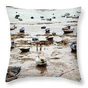 Cadiz Spain Low Tide Throw Pillow