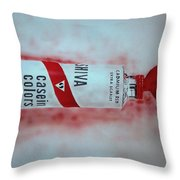 Cadmium Red Throw Pillow