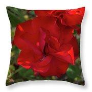 Caecilla's Rose Garden Throw Pillow