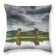 Caerphilly Castle North View 1 Throw Pillow