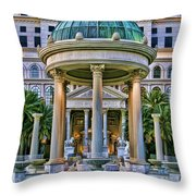 Caesar Columns Throw Pillow