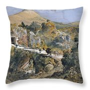 Caesarea Philippi Banias Throw Pillow