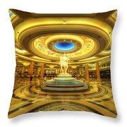 Caesar's Grand Lobby Throw Pillow by Yhun Suarez