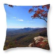Caesars Head In South Carolina Throw Pillow