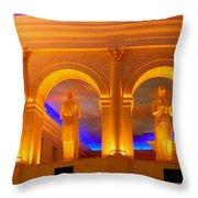 Caesar's Lobby - A C Throw Pillow