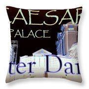 Caesars Palace After Dark Throw Pillow