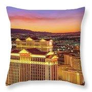 Caesars Palace After Sunset 6 To 3.5 Aspect Ratio Throw Pillow