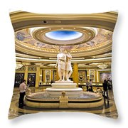 Caesars Palace Throw Pillow