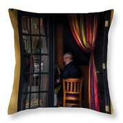 Cafe - Brunch Throw Pillow by Mike Savad