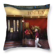 Cafe - Jolly Trolley Throw Pillow