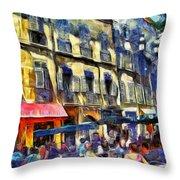 Cafe 2 Provence Throw Pillow