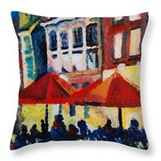 Cafe Al Fresca Throw Pillow
