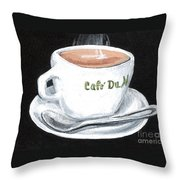 Cafe Au Lait Throw Pillow
