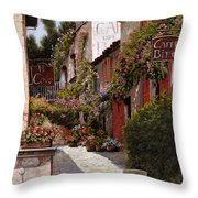 Cafe Bifo Throw Pillow