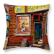 Cafe Bistro St. Viateur Throw Pillow