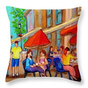 Cafe Casa Grecque Prince Arthur Throw Pillow