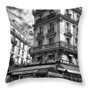 Cafe Corner - Le Bouquet Du Nord Throw Pillow