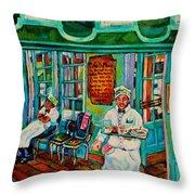 Cafe Du Monde Revisited  Throw Pillow