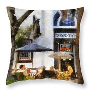 Cafe Throw Pillow by Francesa Miller