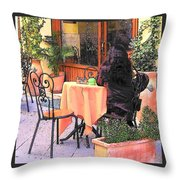 Cafe In Montepulciano Tuscany Throw Pillow