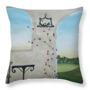 Cafe In Tuscany Throw Pillow