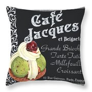 Cafe Jacques Throw Pillow