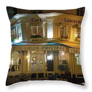 Cafe Louis Philippe Throw Pillow