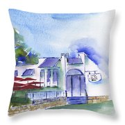 Cafe On The Corner Throw Pillow