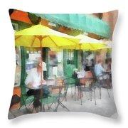 Cafe Pizzaria Throw Pillow