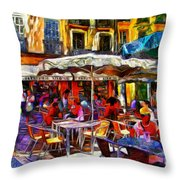 Cafe Provence Throw Pillow